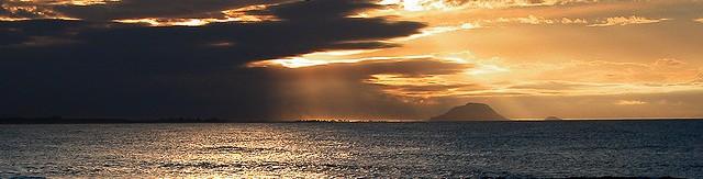 Land on the horizon
