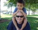 Jacob Sitting on Dad