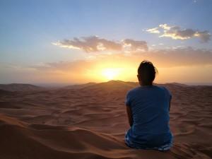 Sunrise over sand
